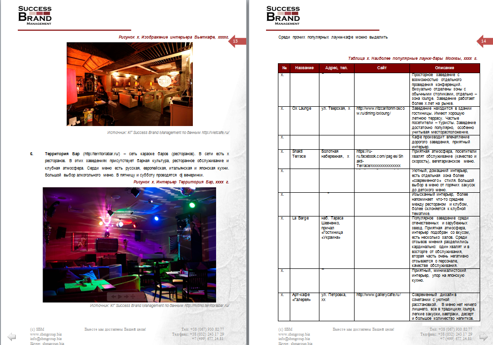 "Анализ рынка ""lounge"" и ""dj"" баров"