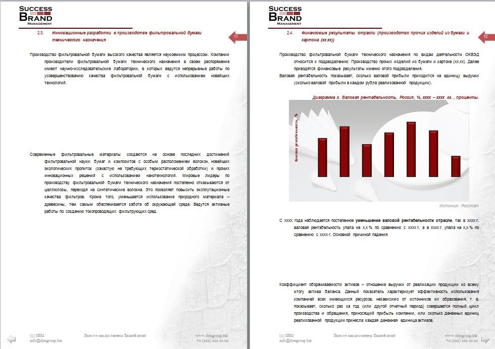 Анализ рынка фильтровальной бумаги