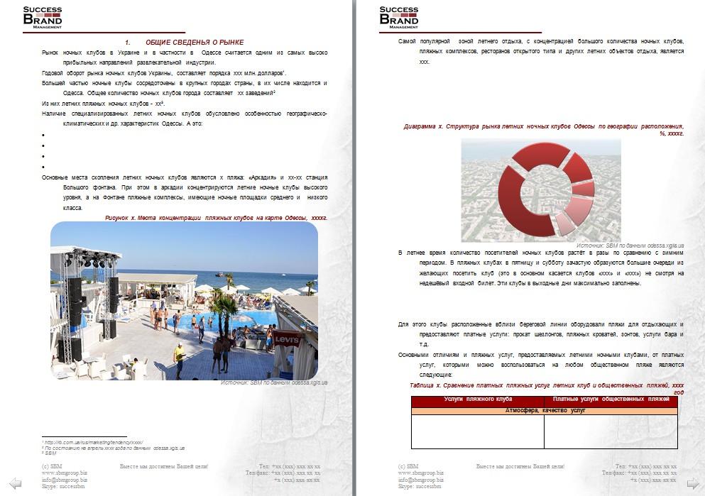 Анализ рынка летних ночных клубов