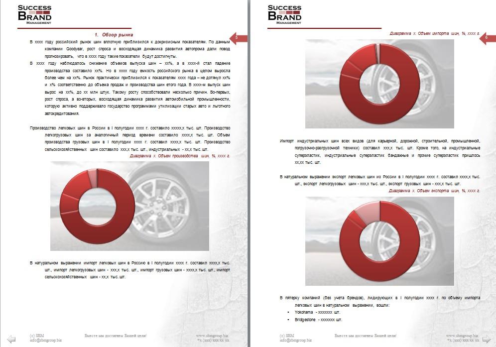 Анализ рынка шин и дисков для автомобилей