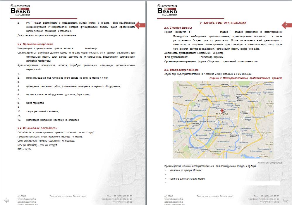 Бизнес-план открытия бара