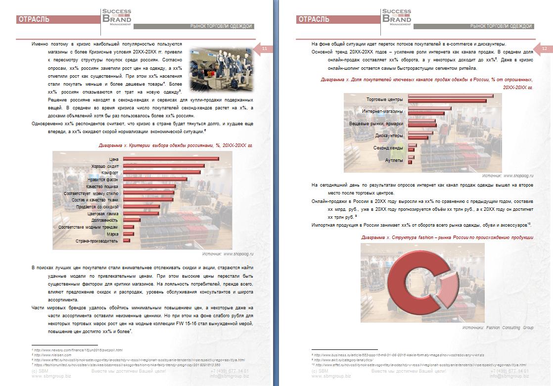 Анализ рынка розничной и онлайн торговли одеждой