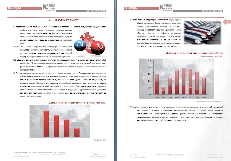 Анализ рынка катализаторов отработавших газов