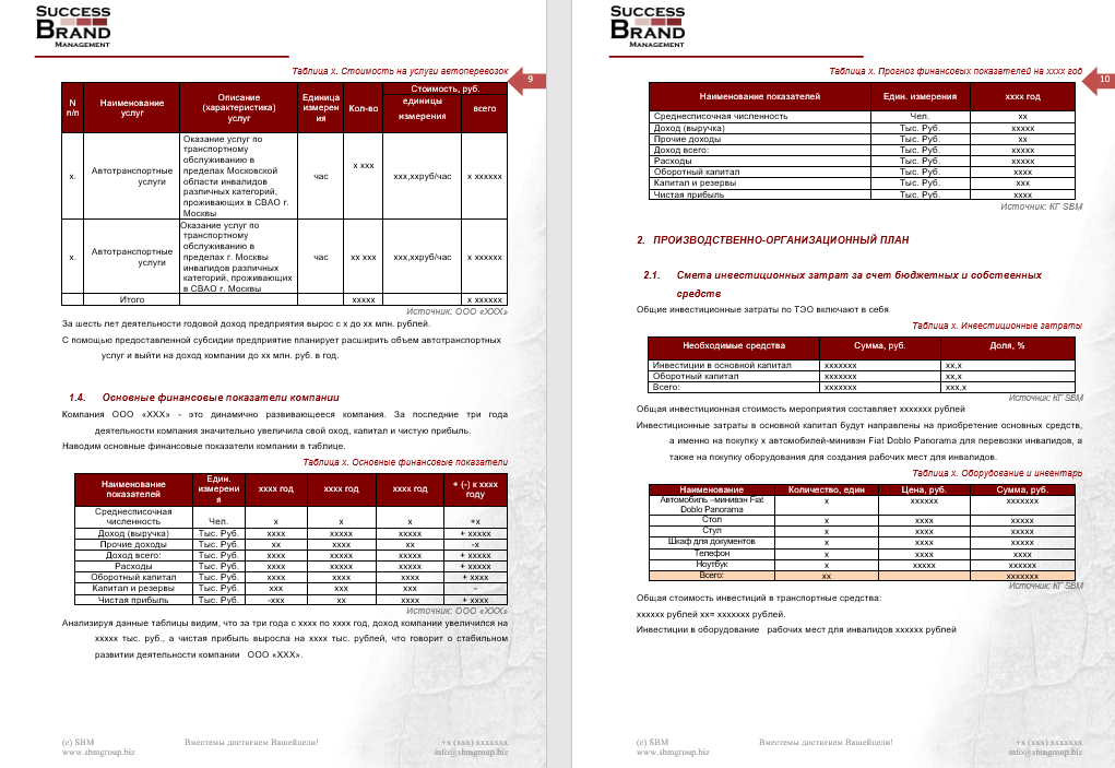 Бизнес-план предприятия услуг автоперевозок
