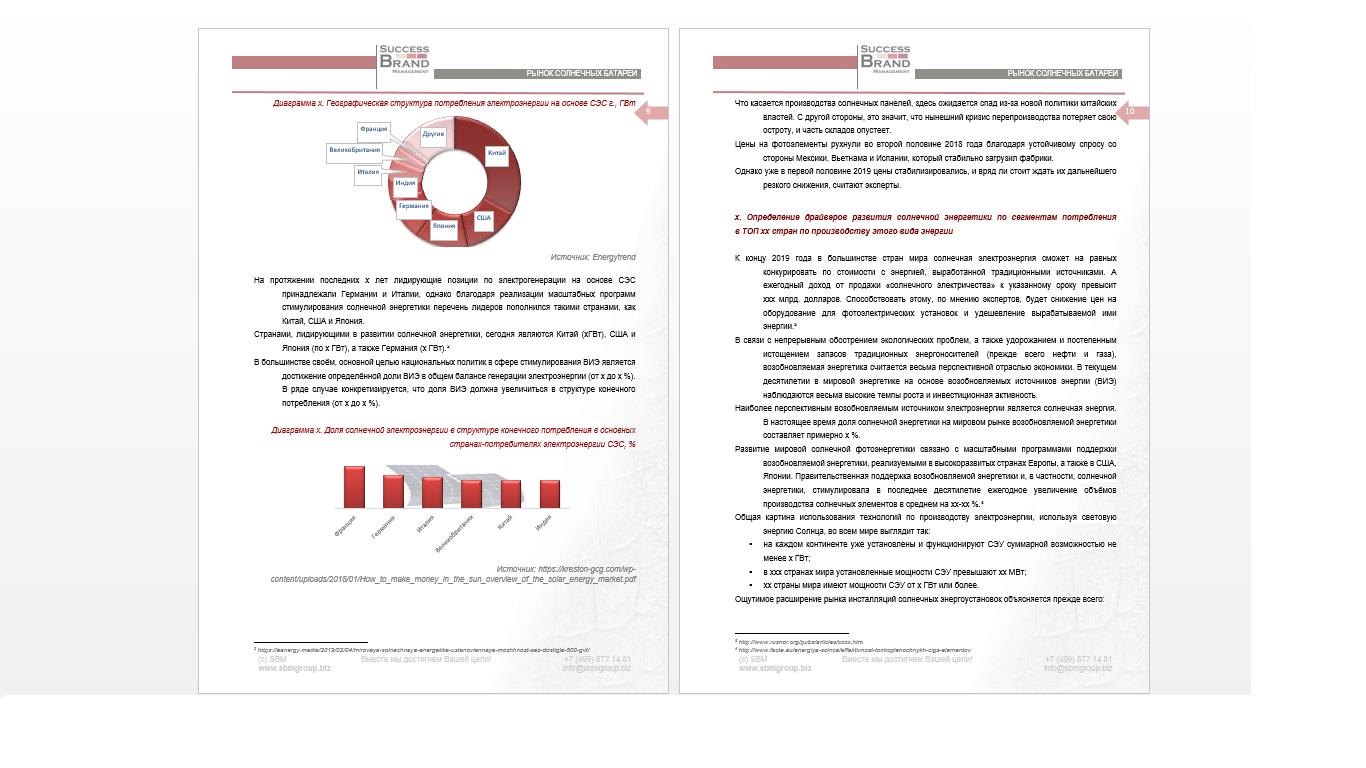 Анализ рынка солнечной энергетики