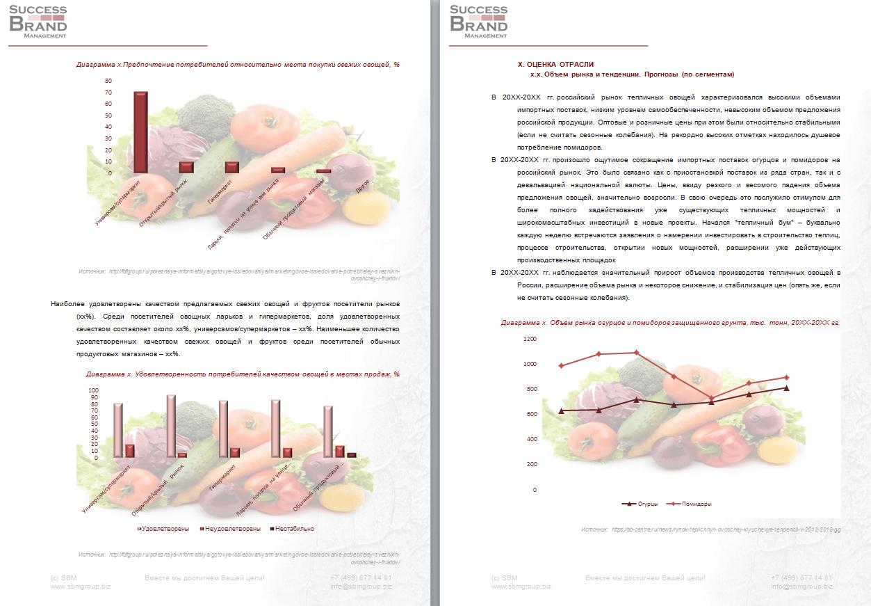 Анализ рынка овощных культур