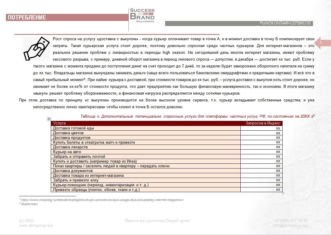 Анализ рынка курьерских услуг